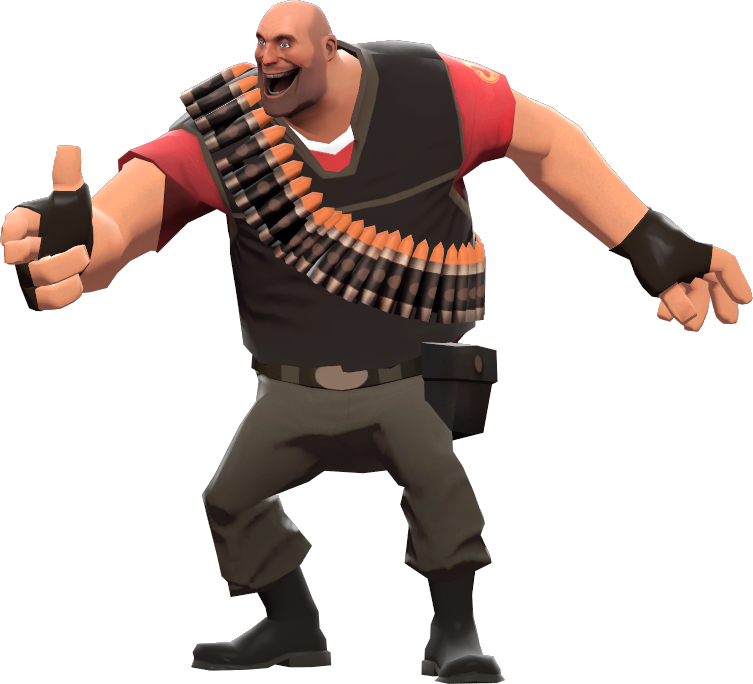 Team Fortress 2's Heavy, That's Who.
