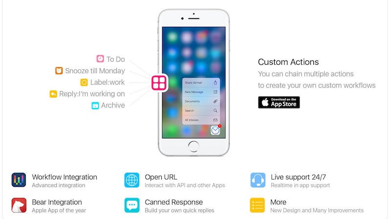 Airmail For iPhone Adds Custom Actions And Workflow Integration