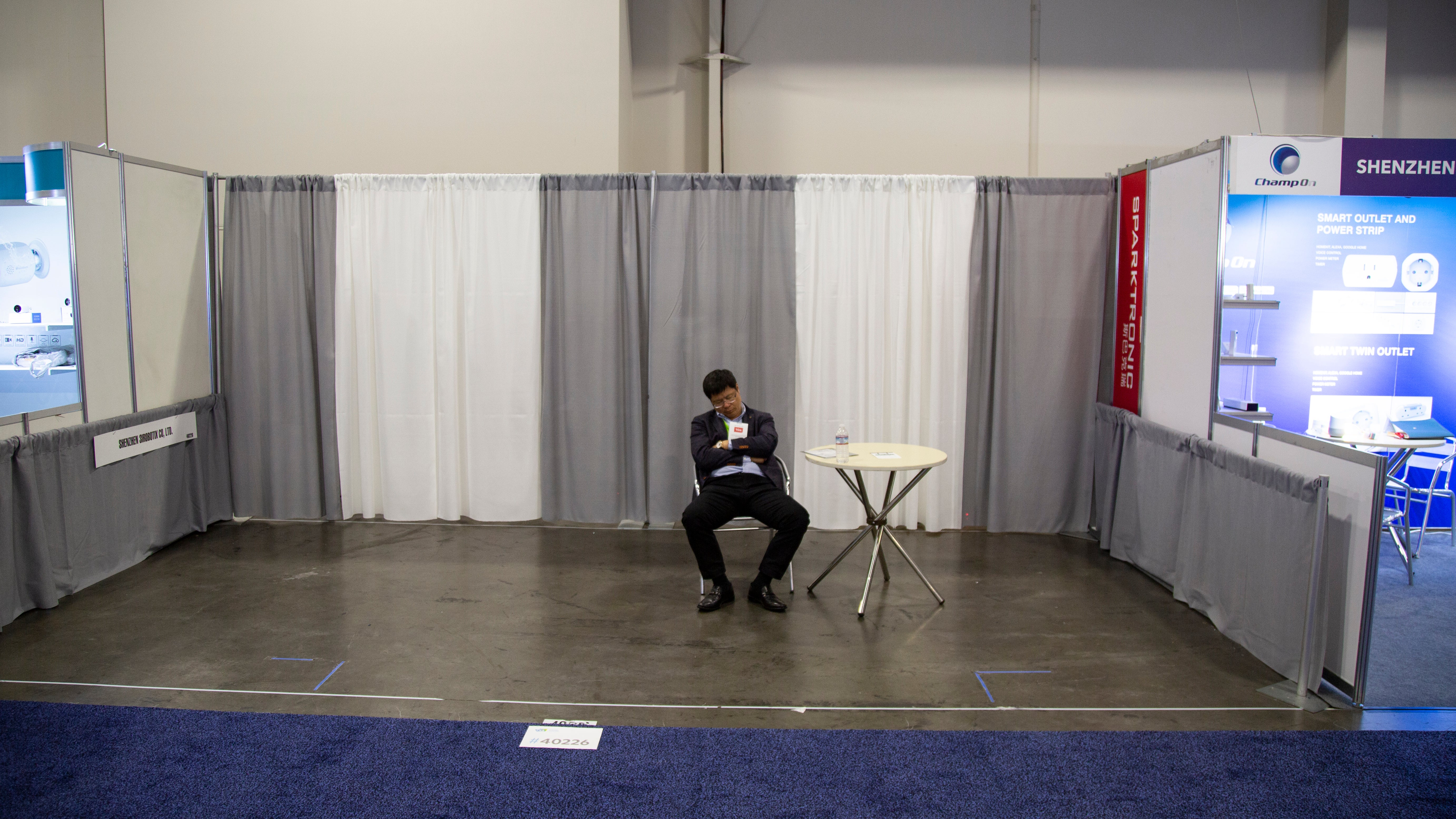 This Sad Booth Is A Metaphor For CES This Year
