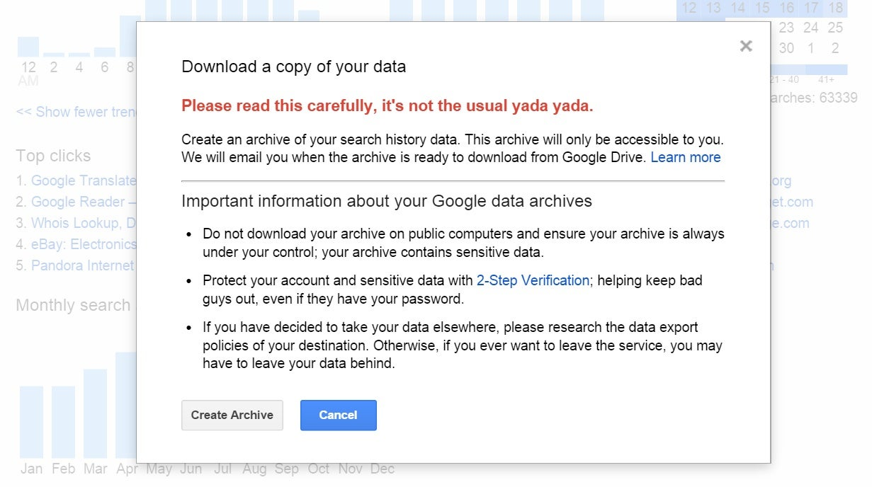 Now You Can Download Your Google History €� Or Better Yet, Delete It