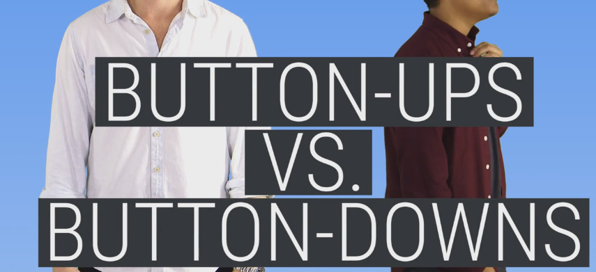 The Difference Between A Button-Up And Button-Down Shirt