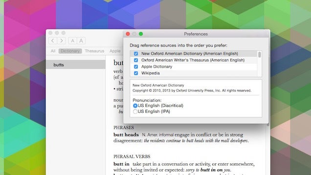 Customise OS X's Dictionary Results for Faster Searching