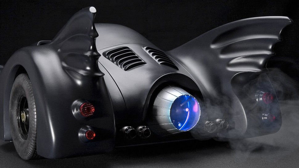 Tim Burton-era Batmobile Model Features Pop-up RC Machine Guns