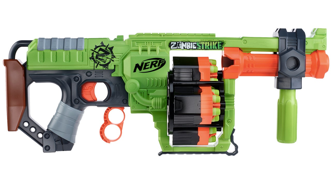 Nerf's New Blaster Puts Four Spinning Barrels Inside a Spinning Barrel