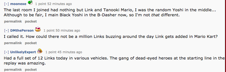 There Are Altogether Too Many Links In Mario Kart 8
