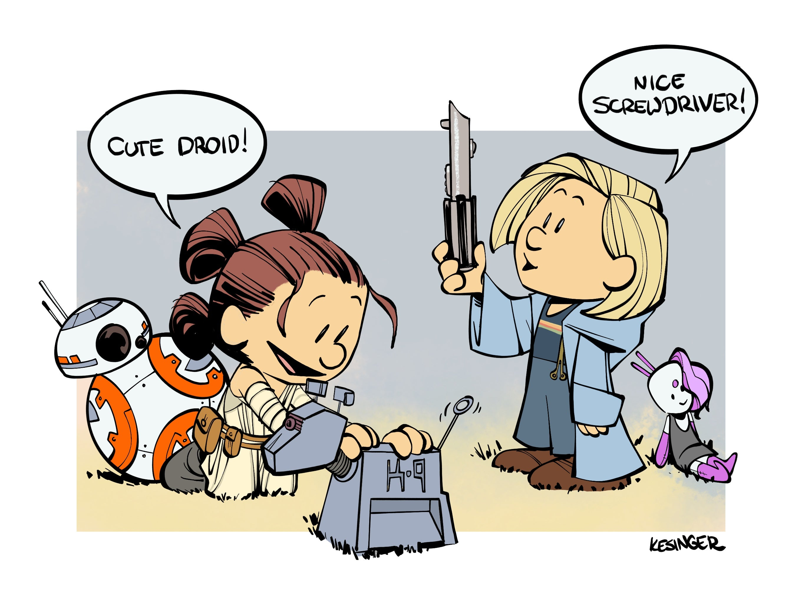 Check Out This Artist's Adorable Mash-Up Of Doctor Who And Star Wars