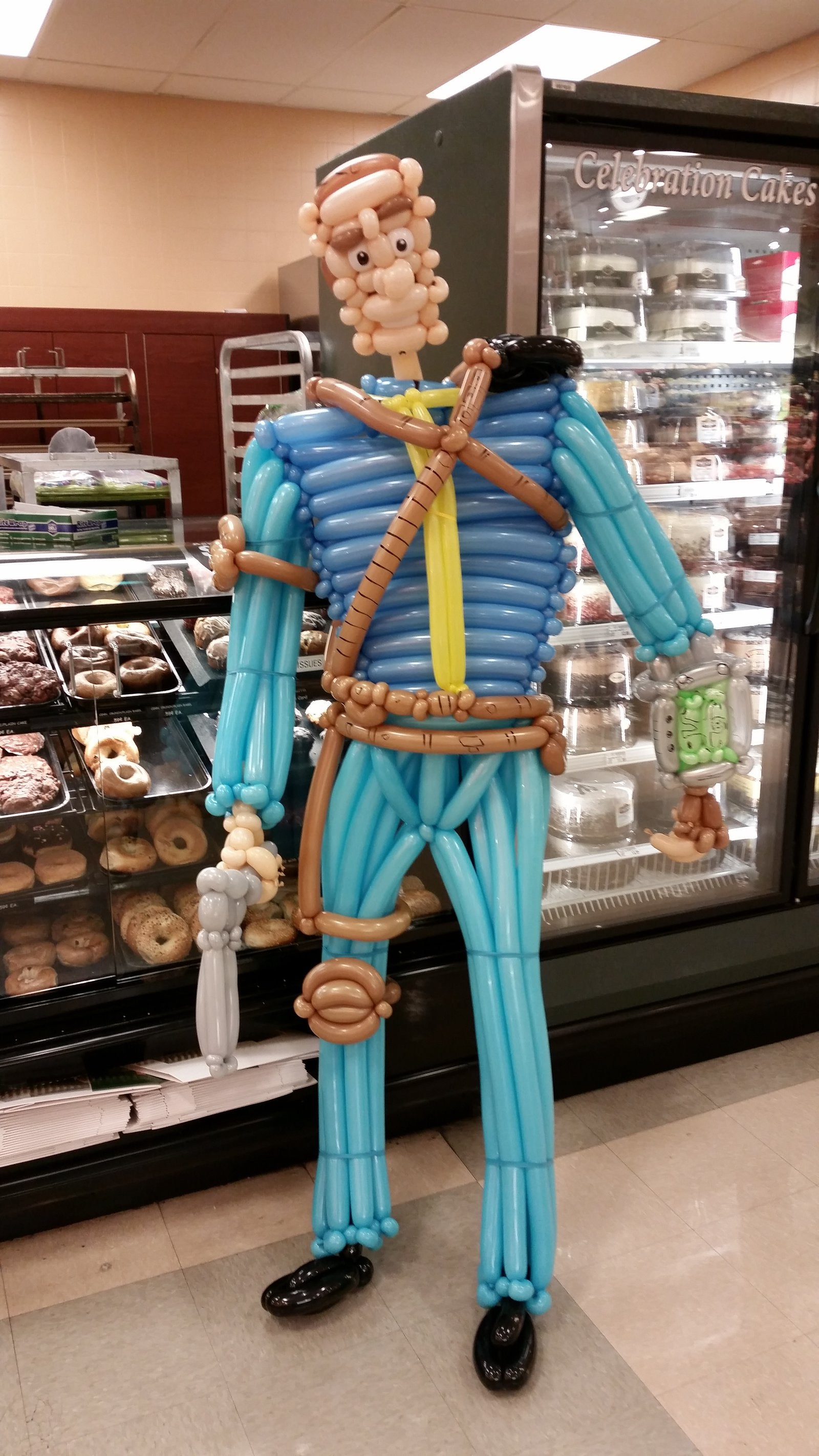 Fallout 3's Lone Wanderer as a Silly Balloon Sculpture