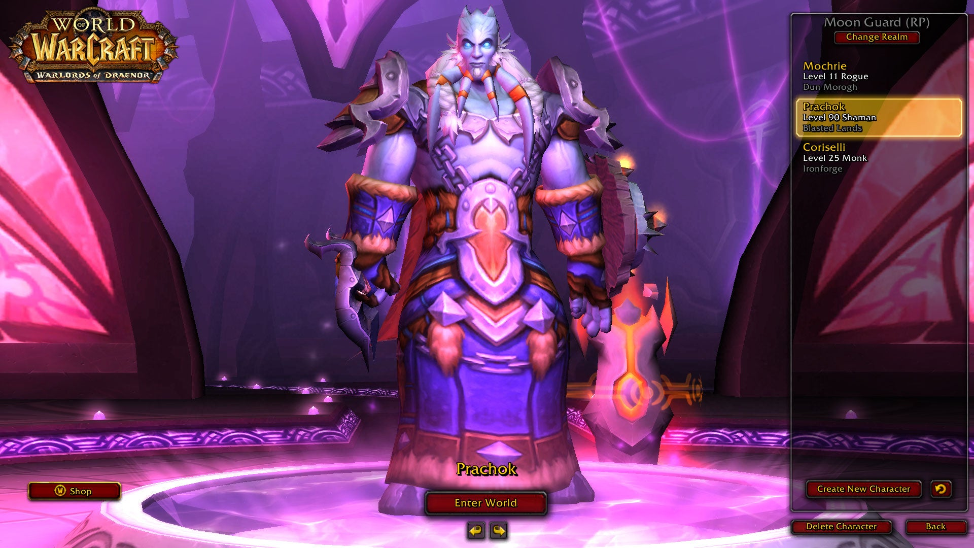Instant Level 90 Shaman, Just Add Warlords Of Draenor