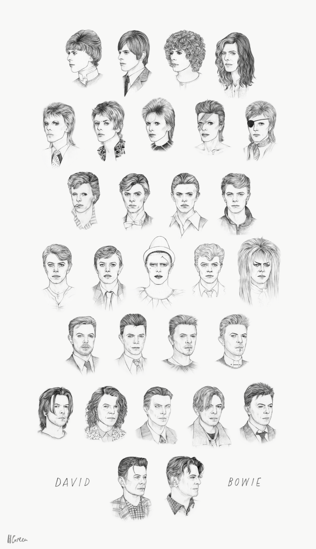 See David Bowie transform over the years in one animated GIF