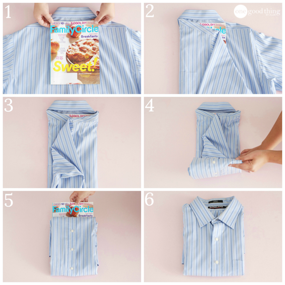 Fold Collared Dress Shirts Perfectly With A Magazine