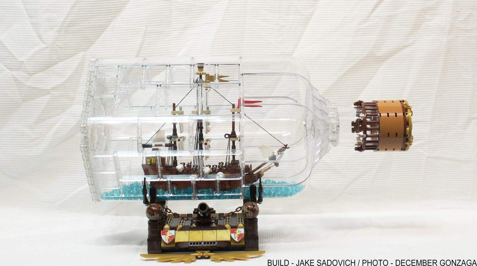 962 Piece Lego Ideas Ship in a Bottle 21313 Building Kit