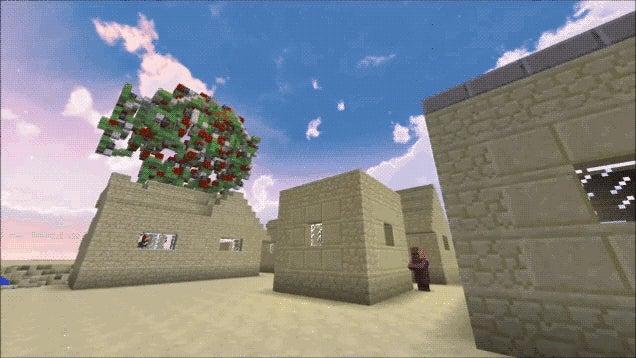 Minecraft Battle Mech Destroys an Entire Village