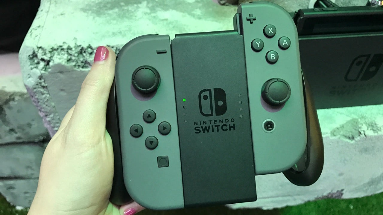 Playing Nintendo Switch Feels New And Classic At The Same Time Joy Con Controllers Grey Centre Of Experience Isnt Screen Which Can Be Docked Or Used As A Portable Its