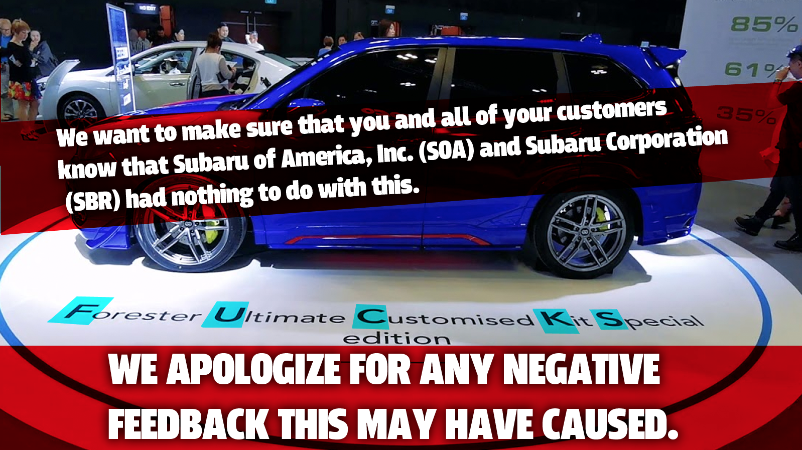 Subaru Of America Is Being Super Lame Right Now About The Subaru F.U.C.K.S.