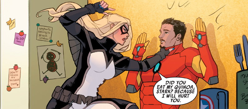 I Wish There Were More Avengers Fridge Jokes in Mockingbird's New Comic