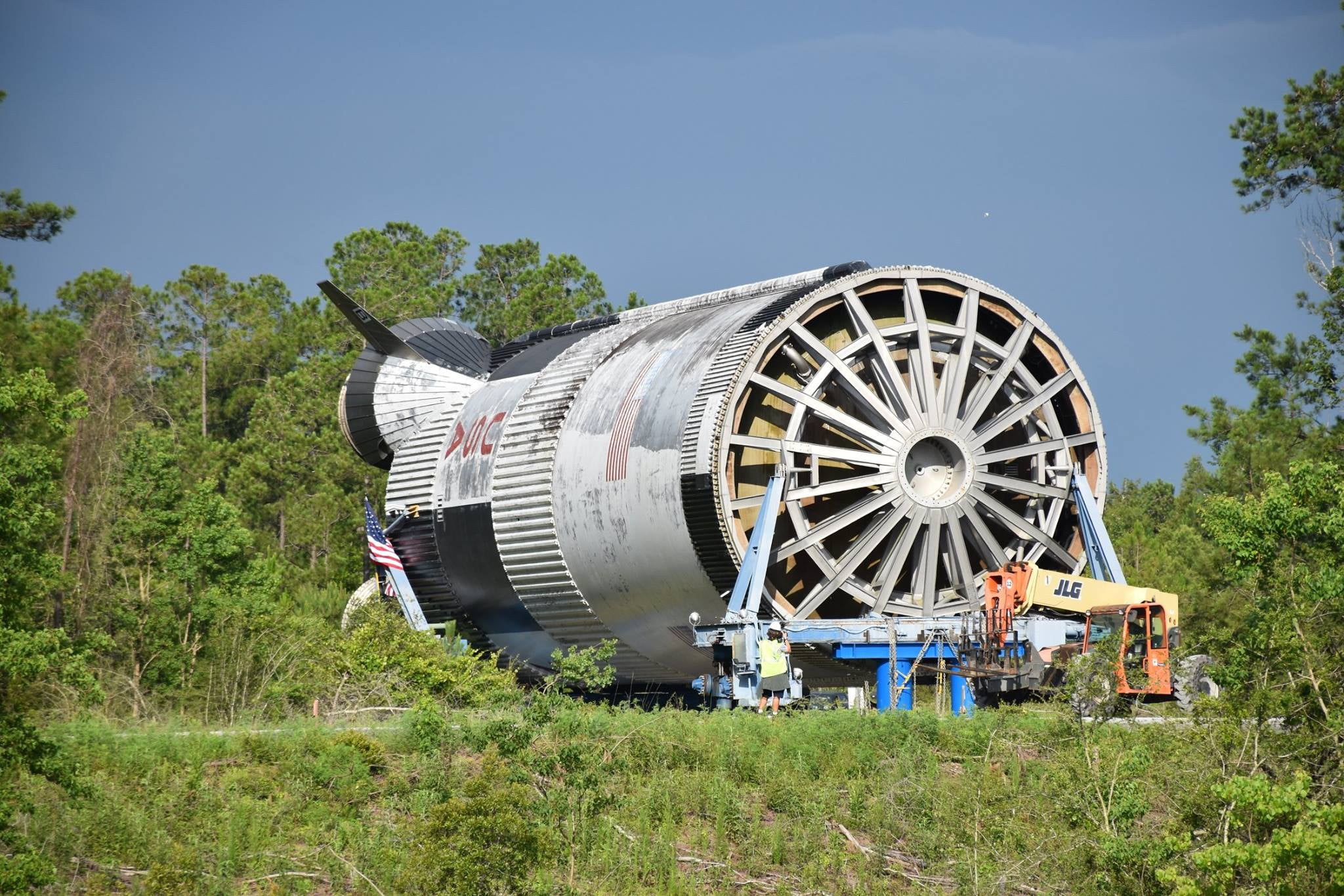 NASA's Last Apollo Saturn V Rocket Is On Its Way To Mississippi Instead Of The Moon