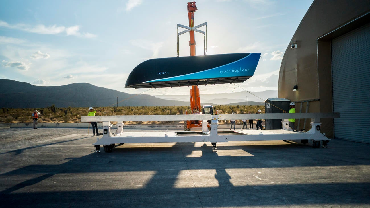 Footage From The First Fast Hyperloop Test Looks Like ATron-Inspired Fantasy