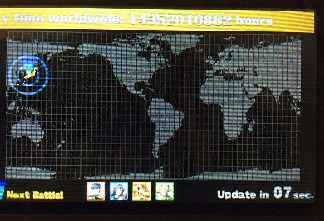 A World Map Showing Where People Are Playing Smash Bros Right Now