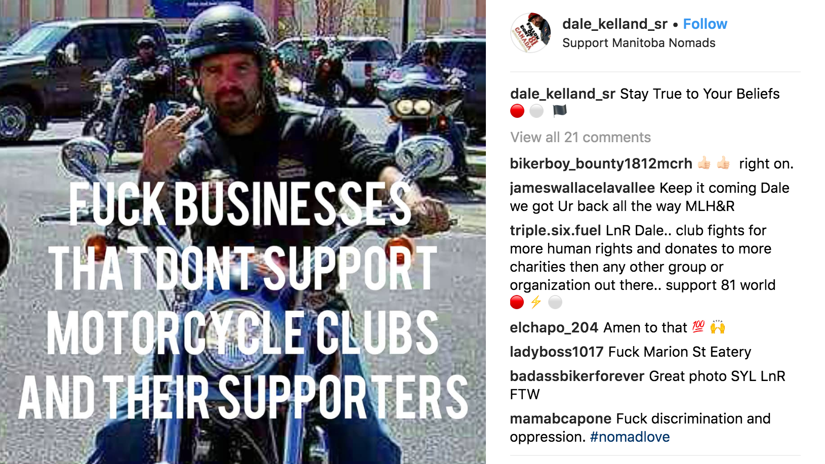 Canadian Hells Angels Terrorise Hotel By Posting 1-Star Reviews