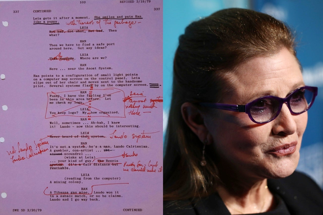 That Carrie Fisher Script ForThe Empire Strikes BackIs A Hoax