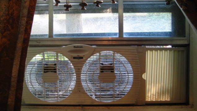 Use a Window Fan When Your Kitchen Doesn't Have a Rangehood