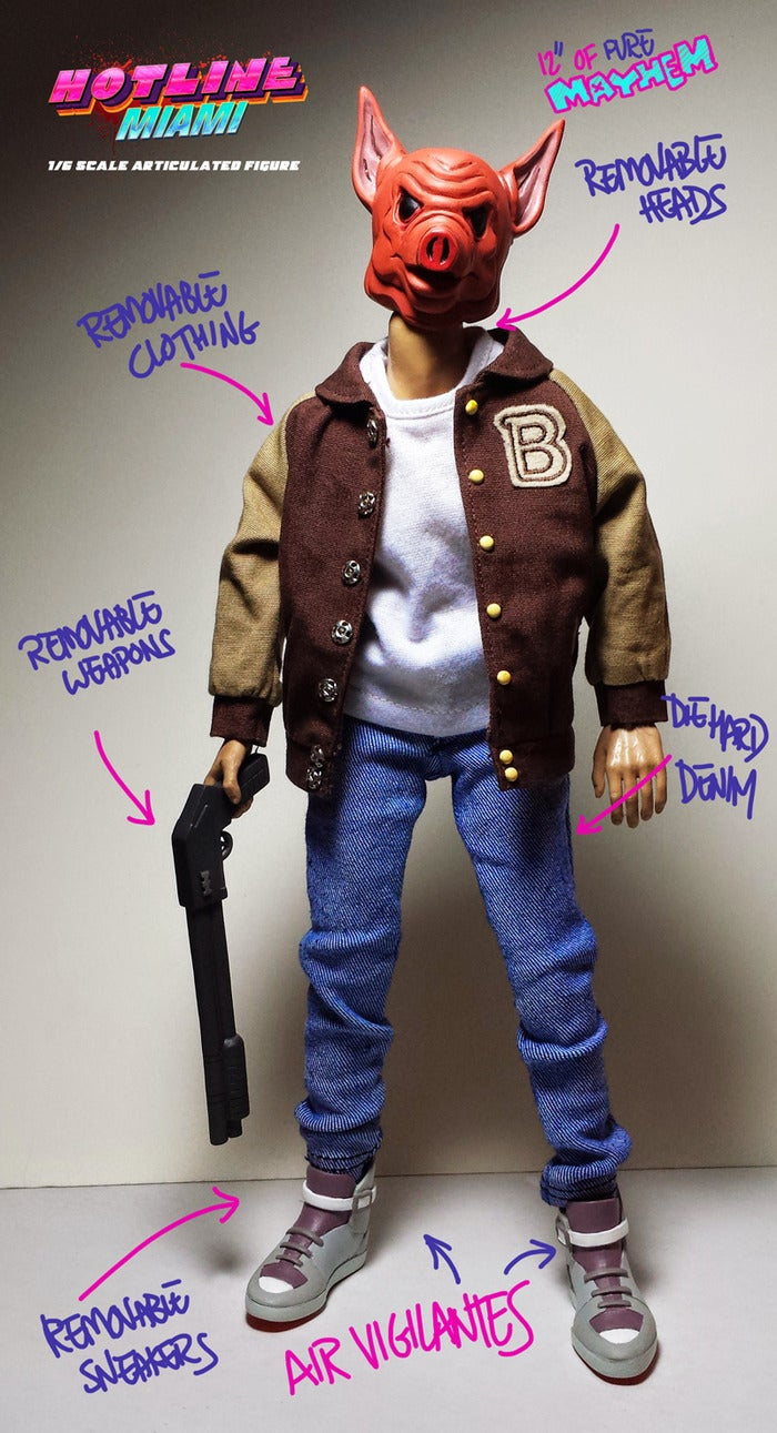 Hotline Miami Action Figure Dials B For Badass