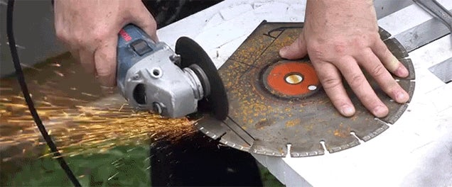 Watch a Circular Saw Blade Get Transformed Into a Two Handle Straight Drawknife