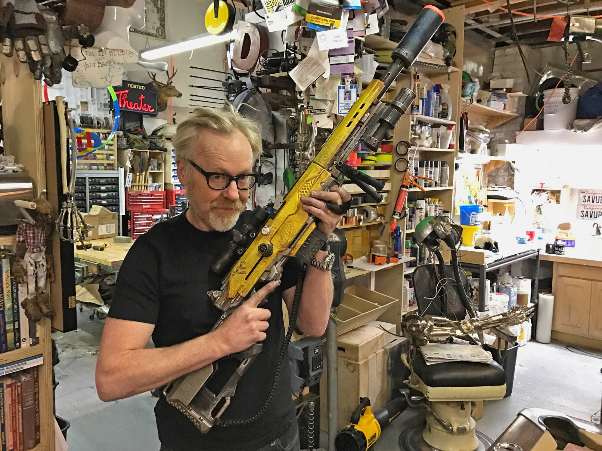 Watch Adam Savage Give A Nerf Blaster An Impressive Sci-Fi Movie Prop Makeover