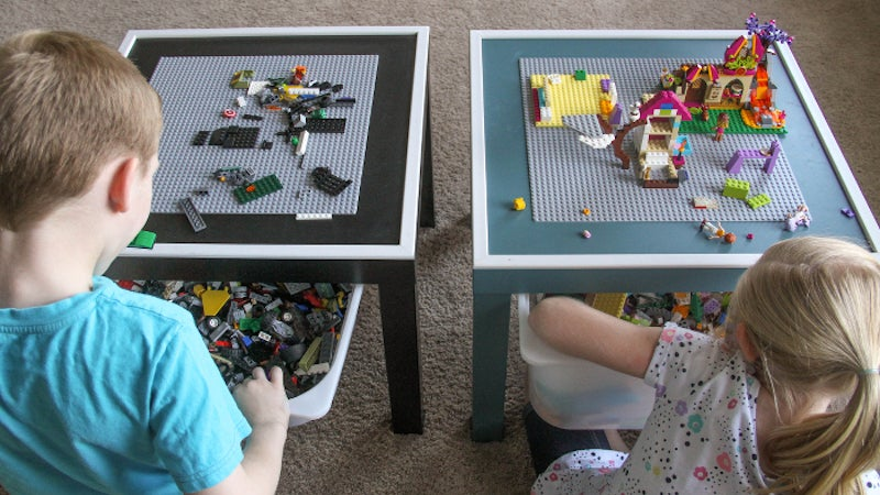 This DIY LEGO Table Keeps The Kids Entertained And Their Bricks Organised