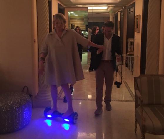 Martha Stewart, Techfluencer, Rides Her Hoverboard Barefoot