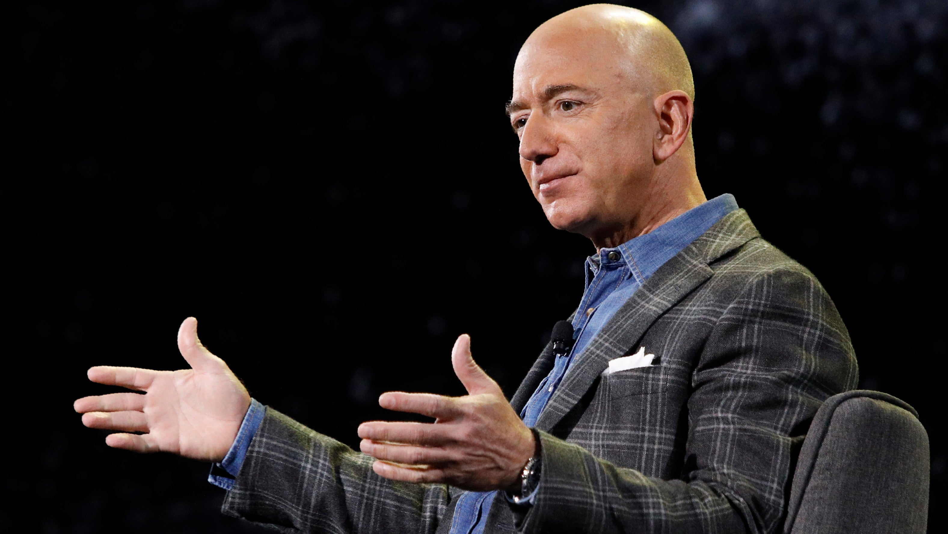 Jeff Bezos Outlines Plan To Colonise Space, Interrupted By Chicken Protestor