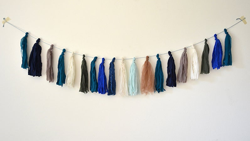 Upcycle Ruined Tights Into Decorative Tassels