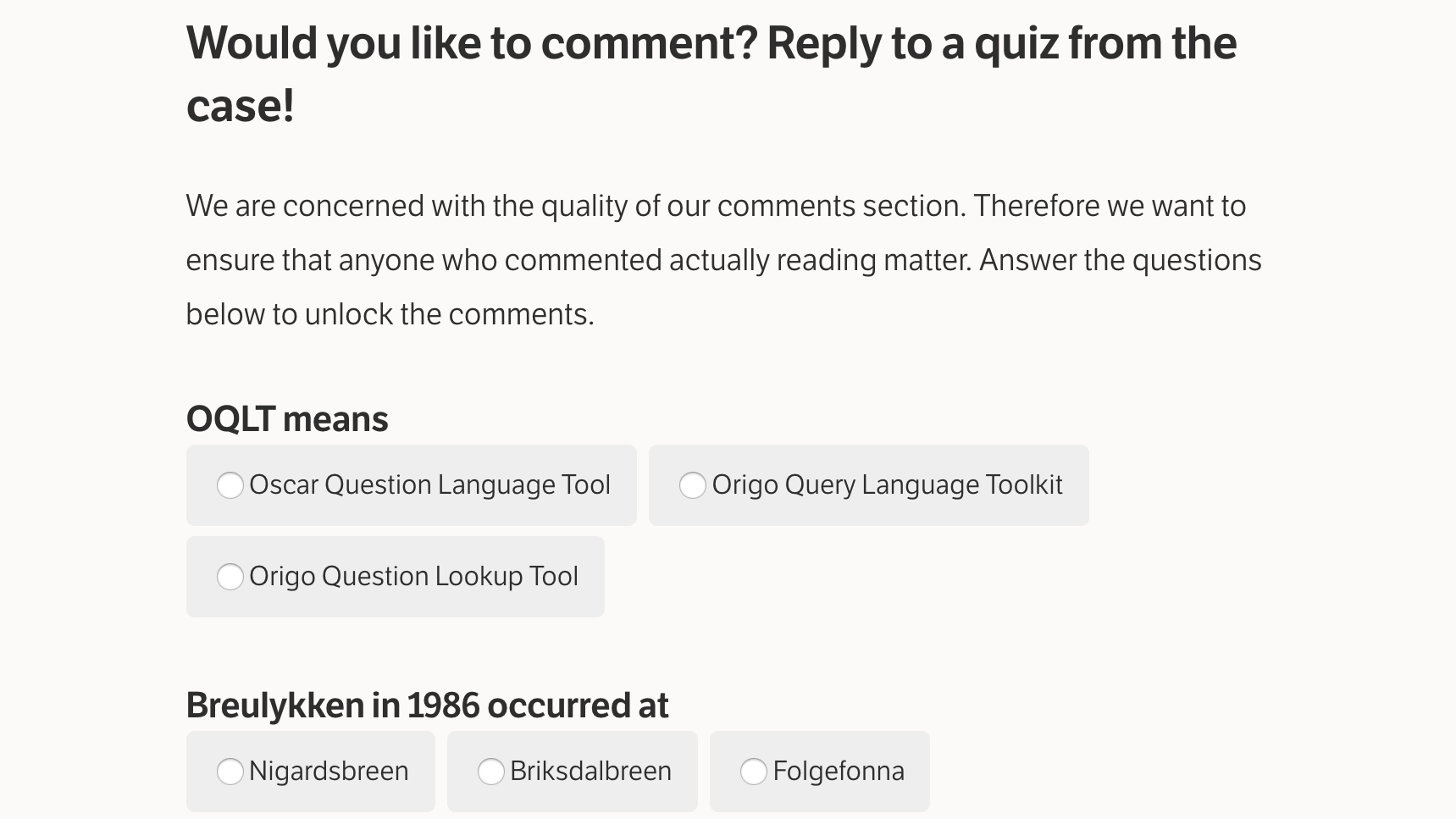 Did You Read This Post Before You Commented?