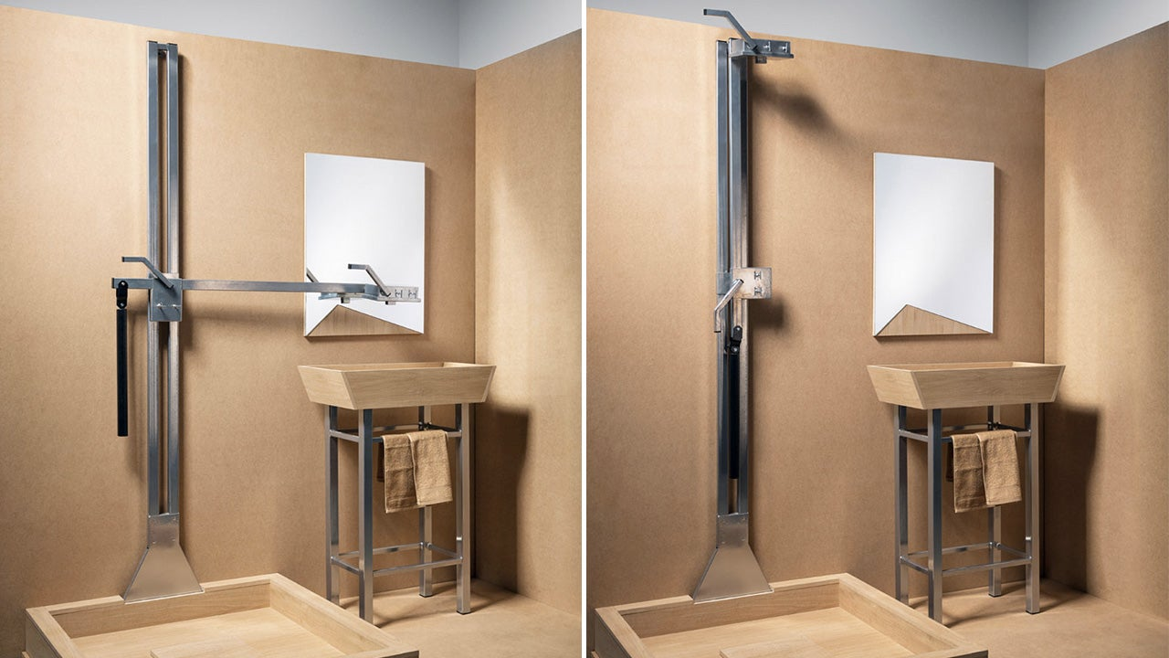 there 39 s less to clean when a sink and shower share the same tap gizmodo australia. Black Bedroom Furniture Sets. Home Design Ideas