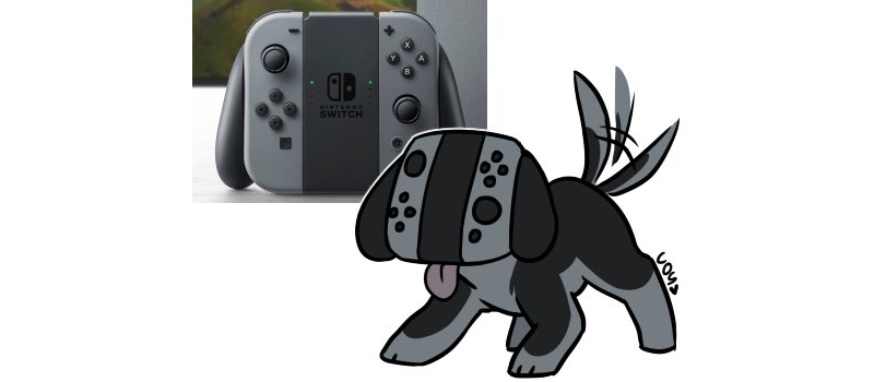 How Does The Switch Controler Look Like A Dog