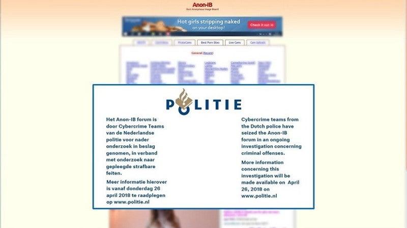 Dutch Authorities Seize Revenge Porn Site Anon-IB, Arrest Three Men