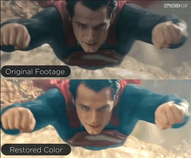 Man of Steel restored in colour looks so much better than the original