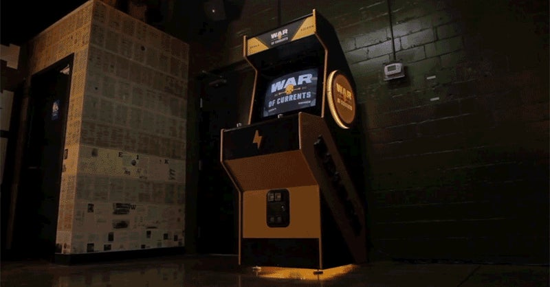 An Arcade Featuring Tesla Fighting Edison Also Lets Players Shock Each Other