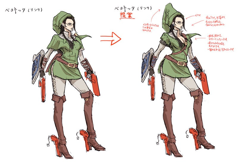 Character Design From The Ground Up Download : How bayonetta got dressed up as nintendo s most famous