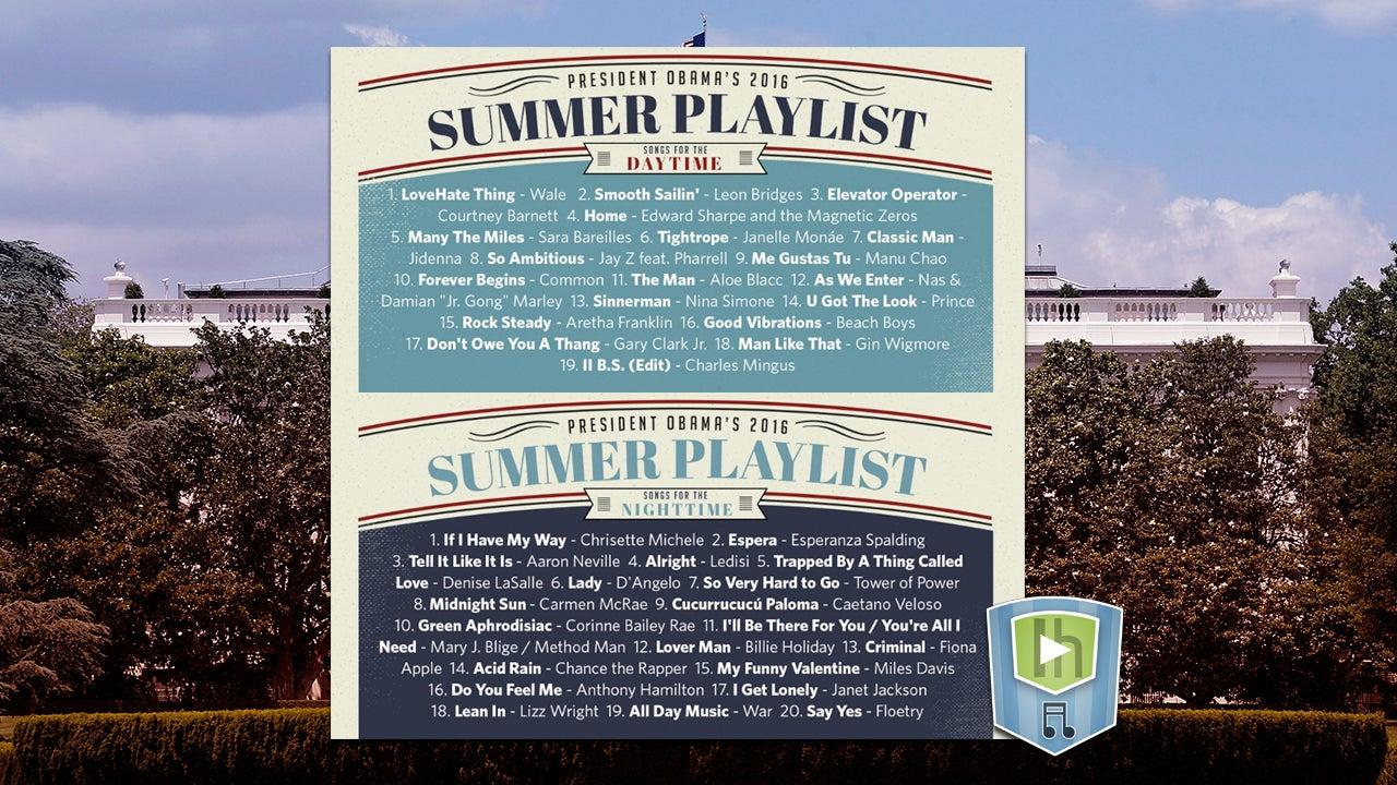 The US President's Summer Playlist