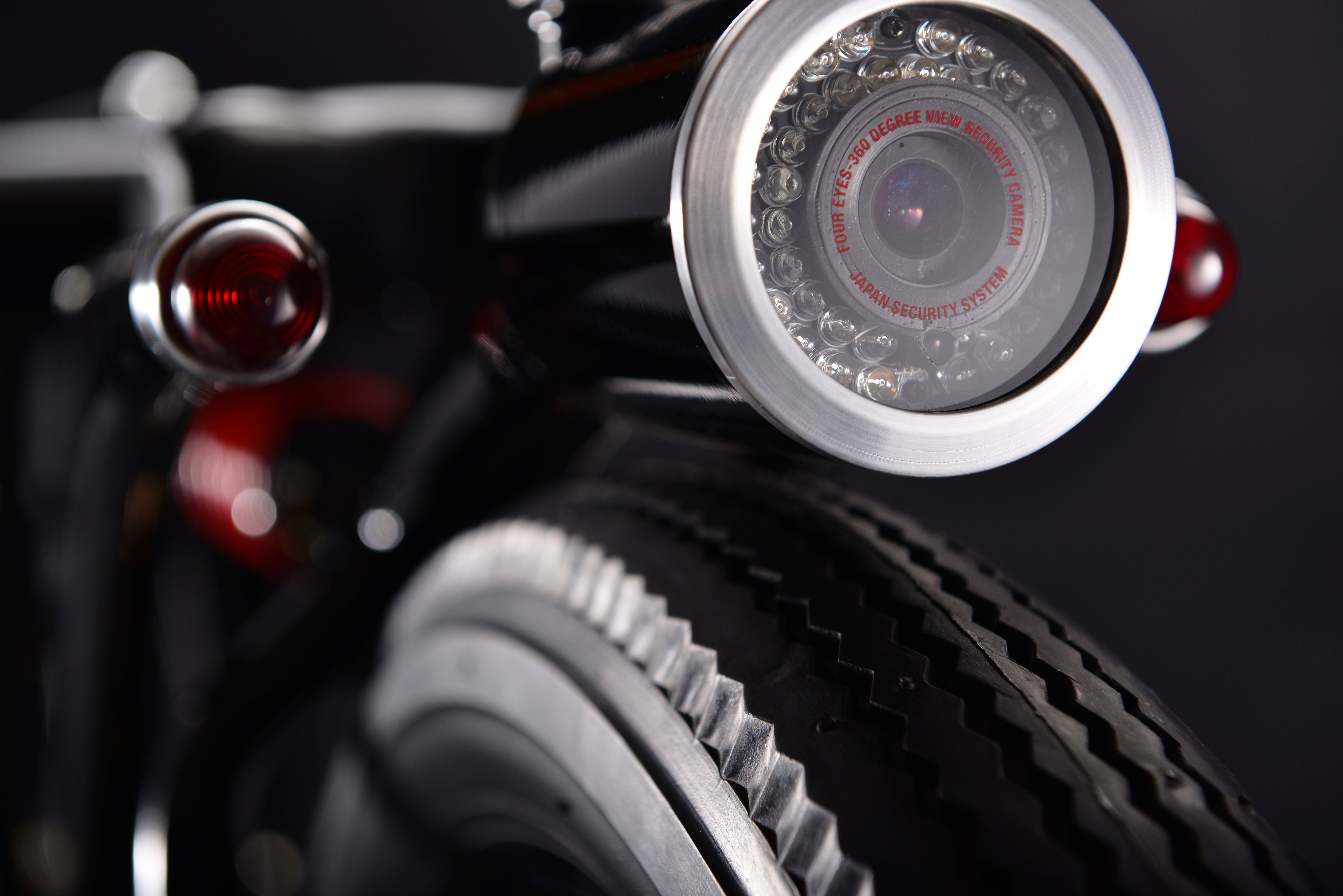Beautiful Custom Motorbike Is Actually a 360º Security Camera