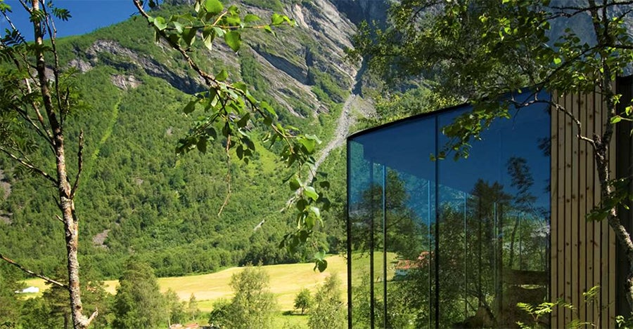 I want to live in one of these spectacular cabins in a Norwegian fjord