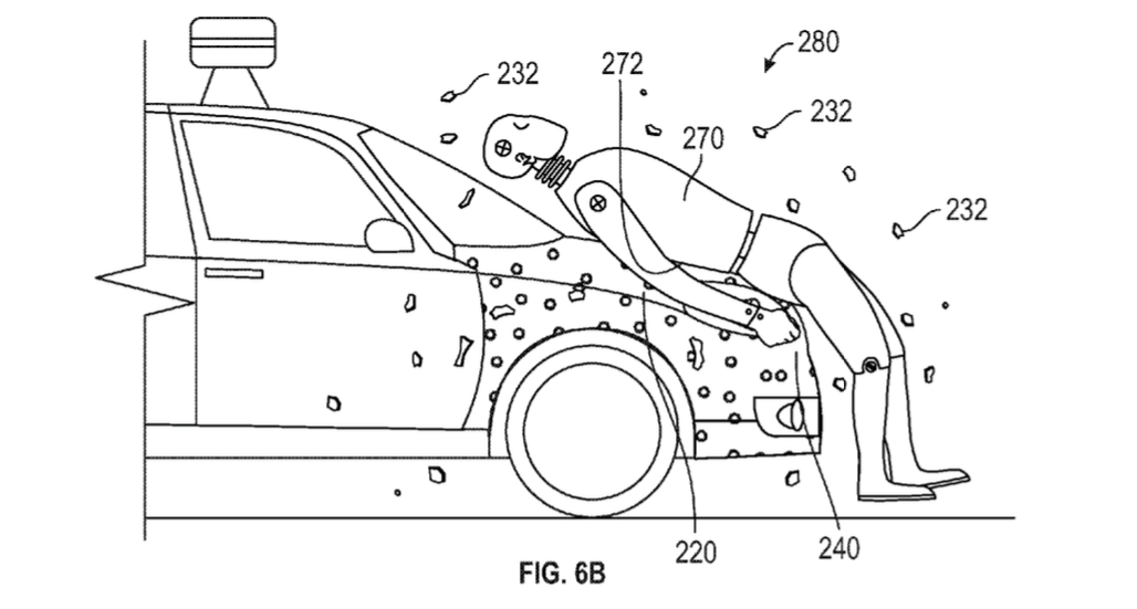 Google Patented A Sticky Car Hood That Traps Pedestrians Like Flies To Keep Them Safe