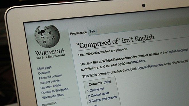 Man's Wikipedia Edits Mostly Consist Of Deleting 'Comprised Of'