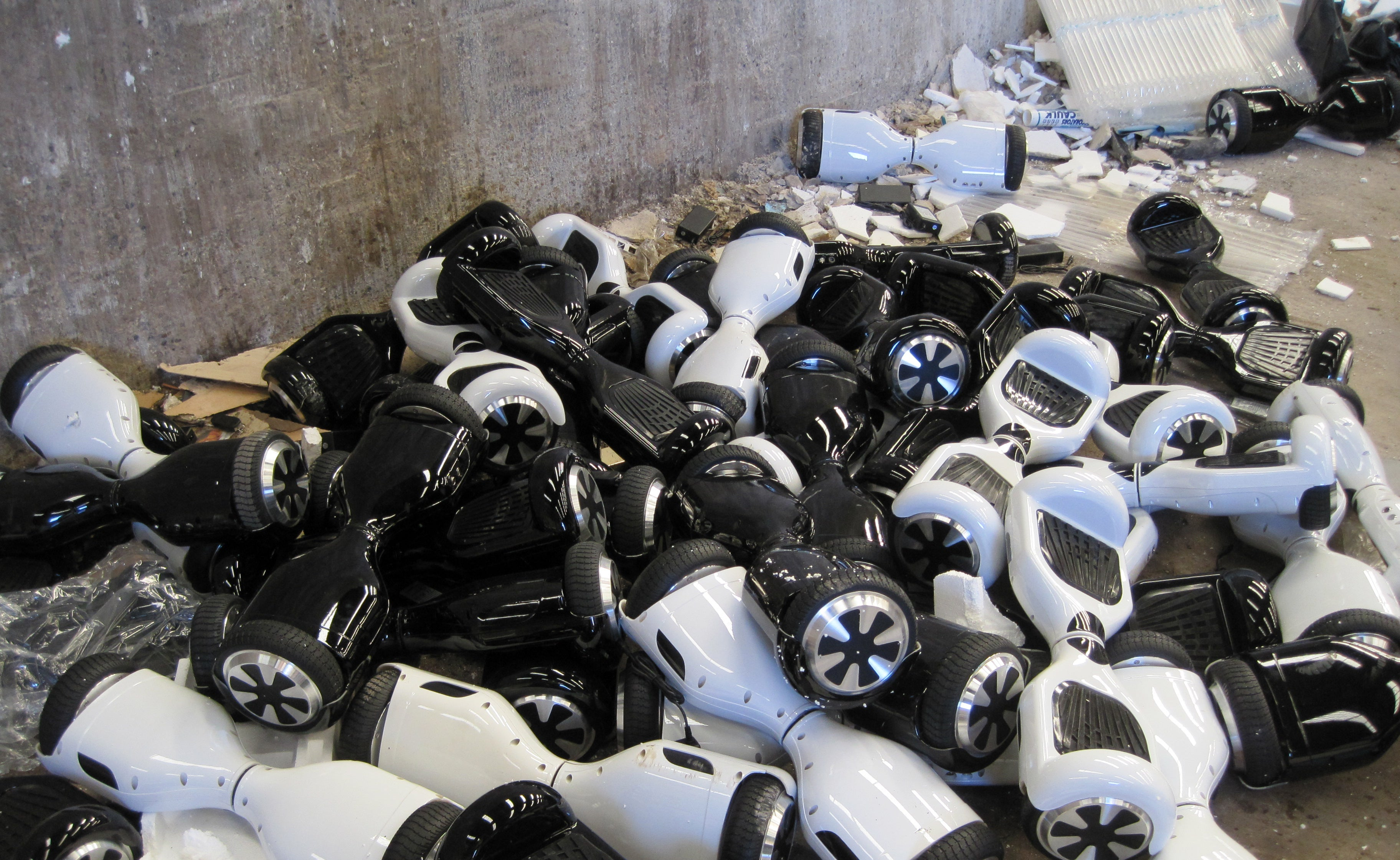 Feast Your Eyes on the Glory of 90 Hoverboards in a Giant, Exploded Pile