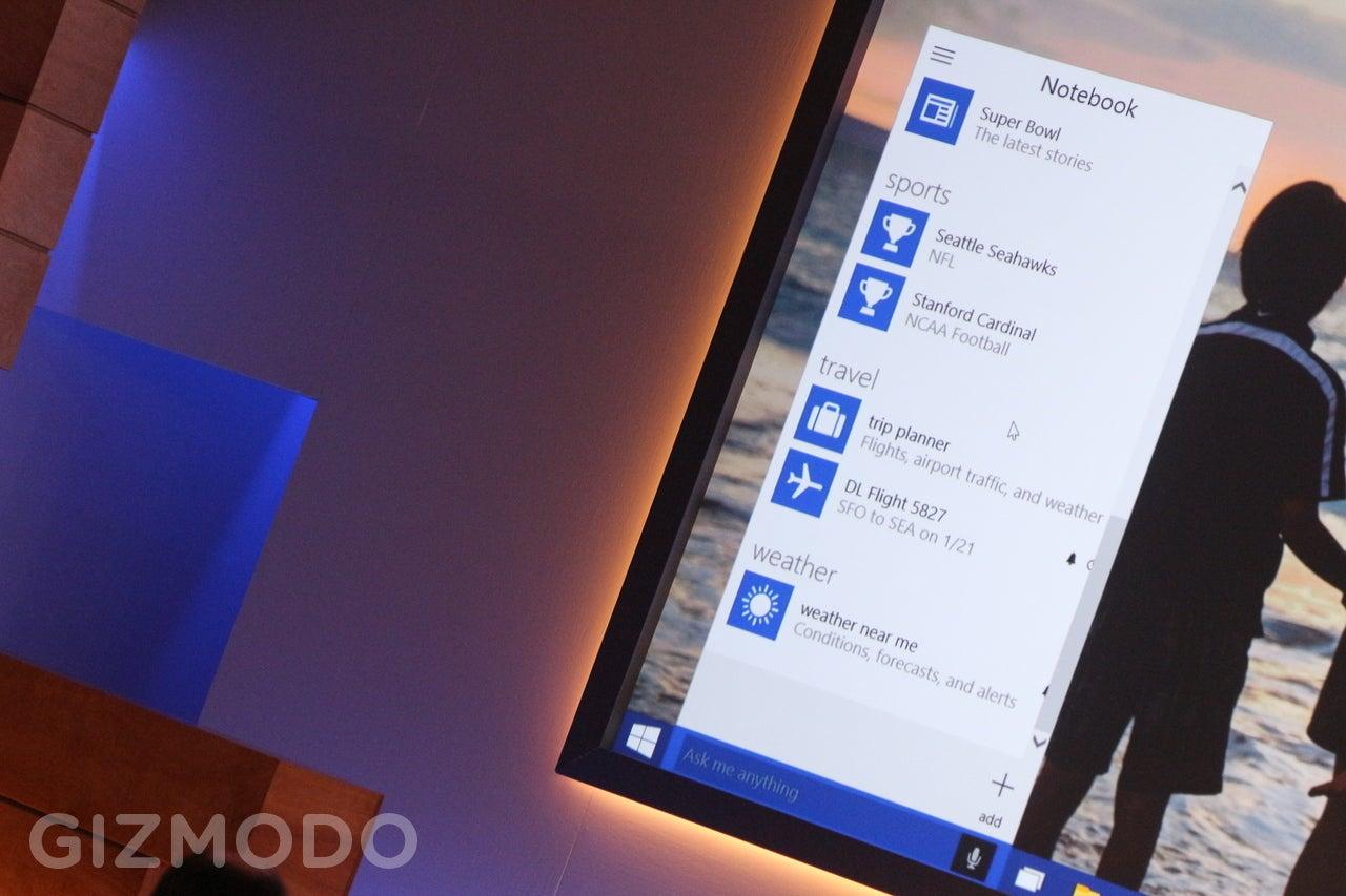 Windows 10 Has Cortana Voice Commands Baked Into Every Cranny