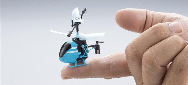 You Might Accidentally Swallow the World's Smallest RC Helicopter
