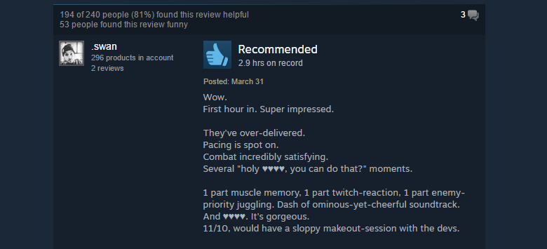 Hyper Light Drifter, As Told By Steam Reviews