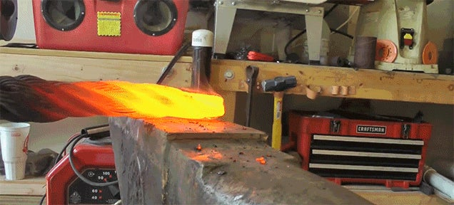 Watch a Knife Get Forged from a Steel Cable