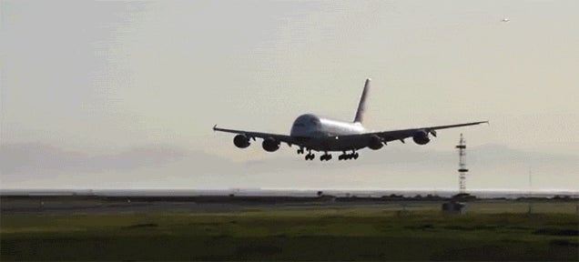 Watch an Airbus A380 Abort a Landing While It's Incredibly Close to the Ground